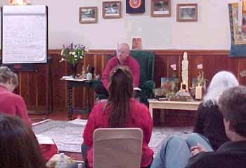 Lama Lar teaching a class
